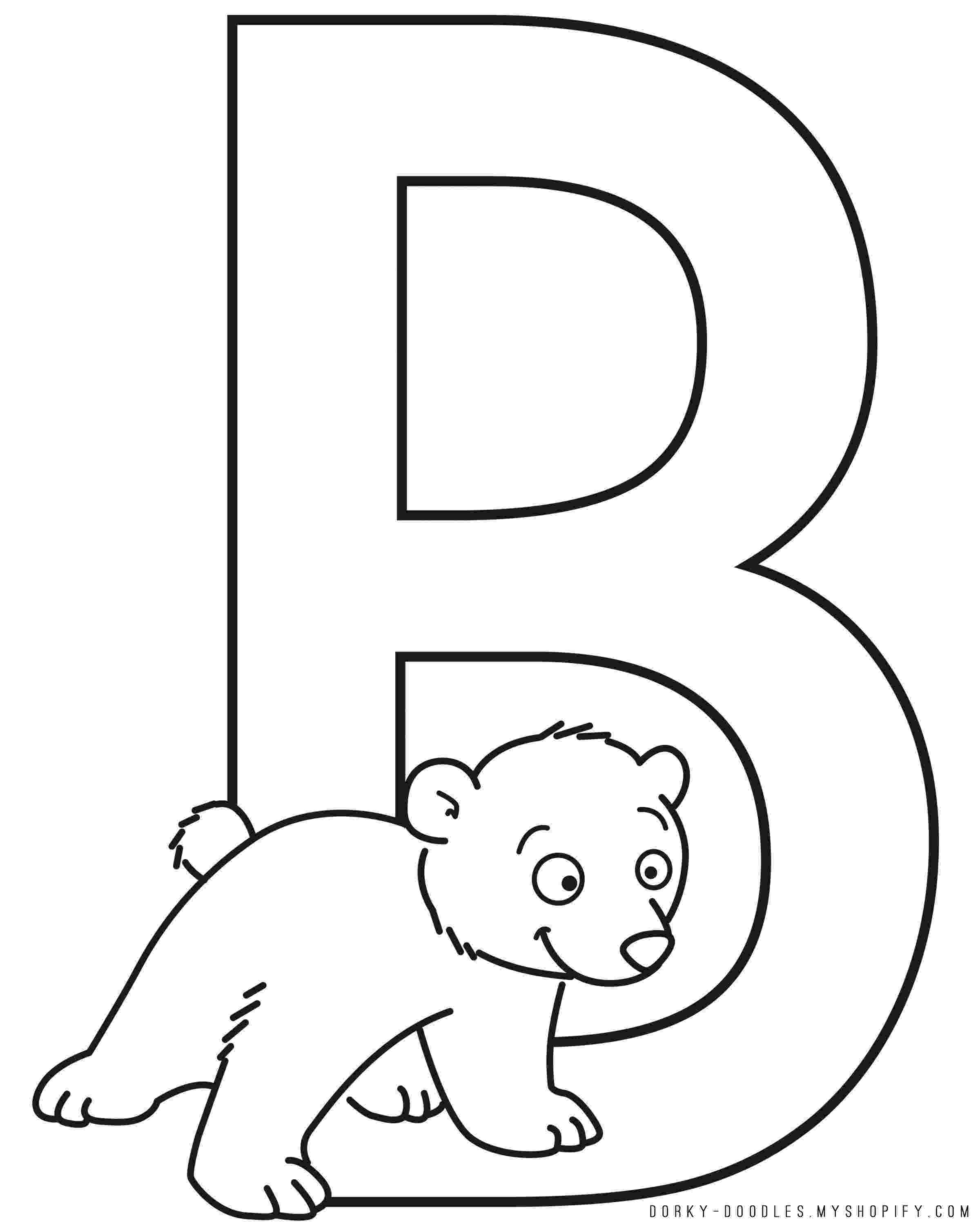 coloring pages with the letter b letter b is for bunny coloring page free printable b with coloring letter pages the
