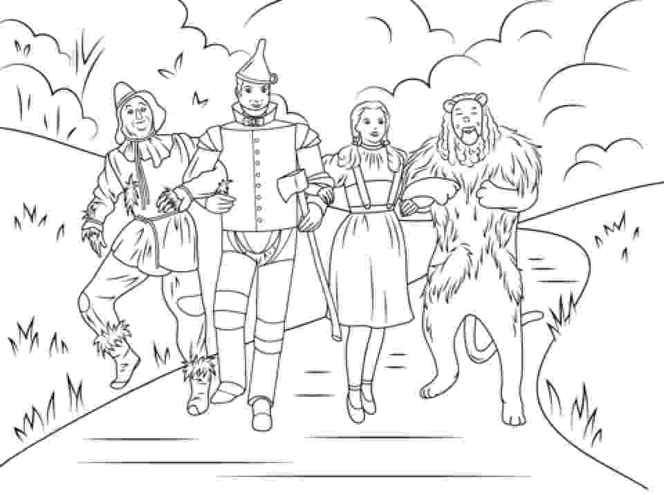 coloring pages wizard of oz wizard of oz coloring pages team colors pages of wizard coloring oz