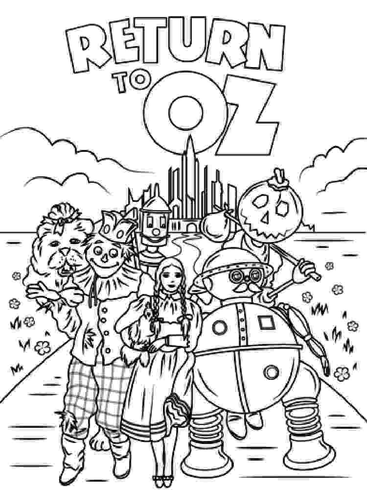 coloring pages wizard of oz wizard of oz coloring pages wizard oz of pages coloring