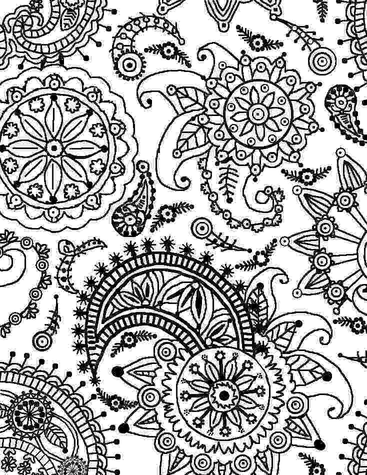 coloring patterns flowers flowers with paisley patterns coloring page free patterns coloring flowers