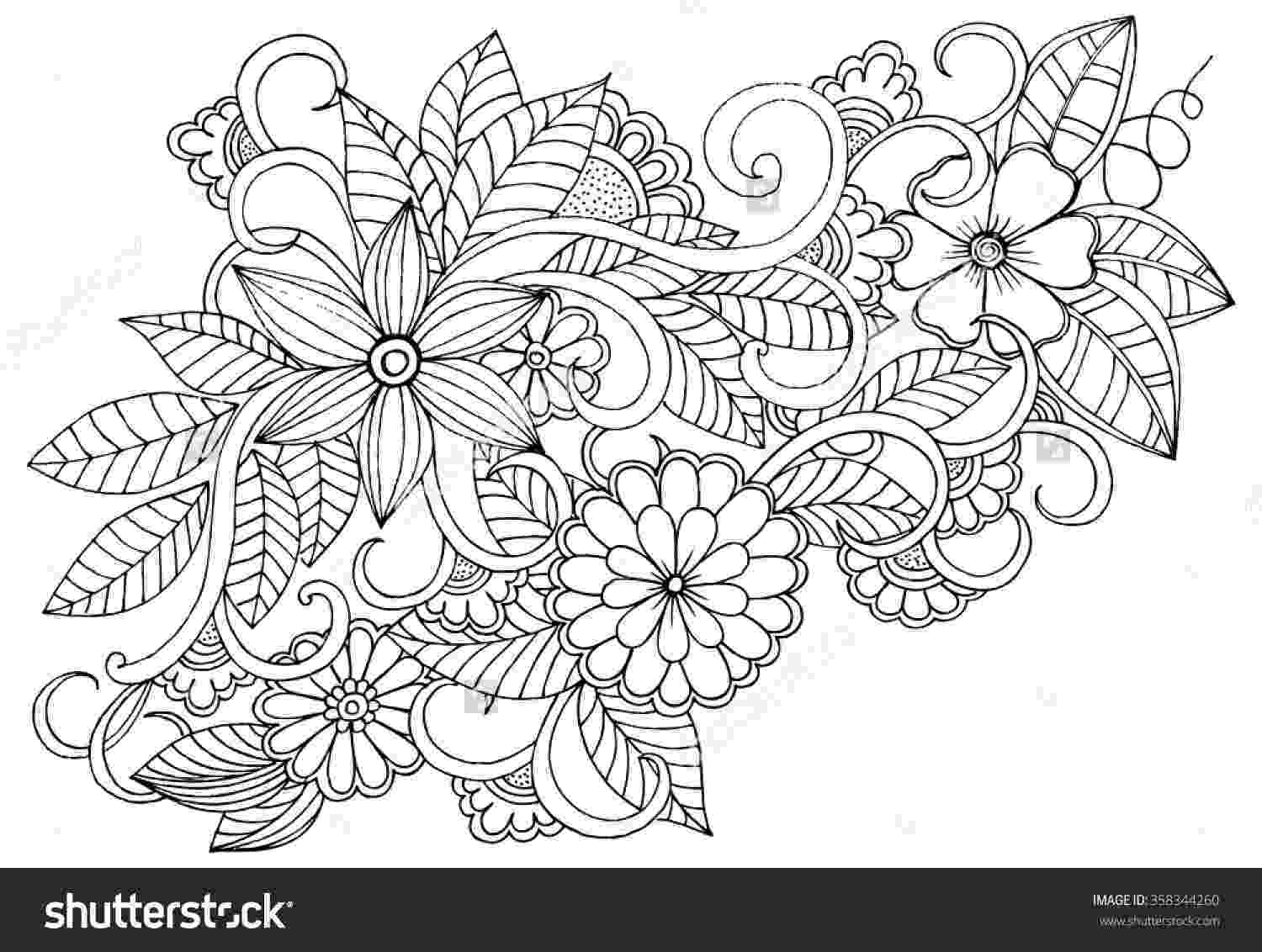 coloring patterns flowers four free flower coloring pages for adults flowers coloring patterns