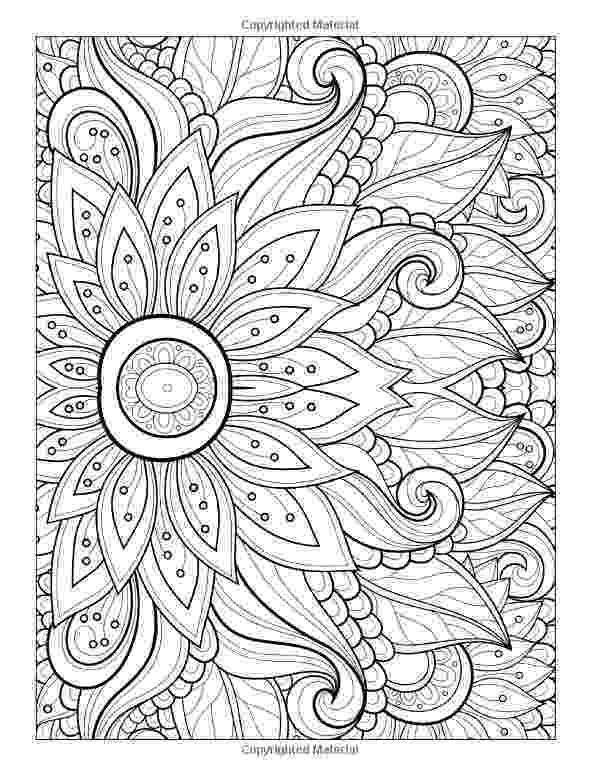 coloring patterns flowers printable adult colouring page digital download print flower flowers patterns coloring