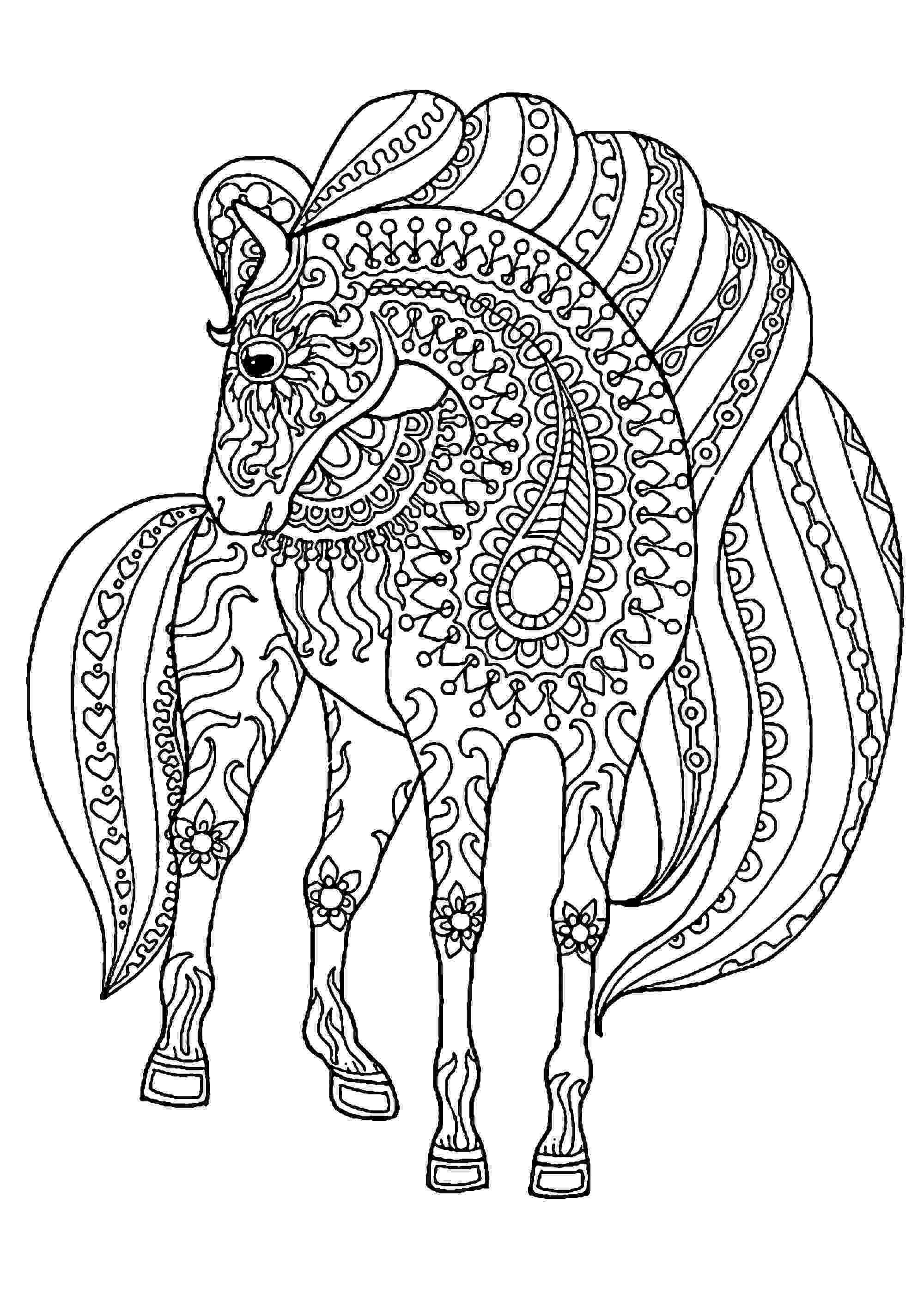 coloring pics of horses cute horse coloring pages getcoloringpagescom pics coloring horses of