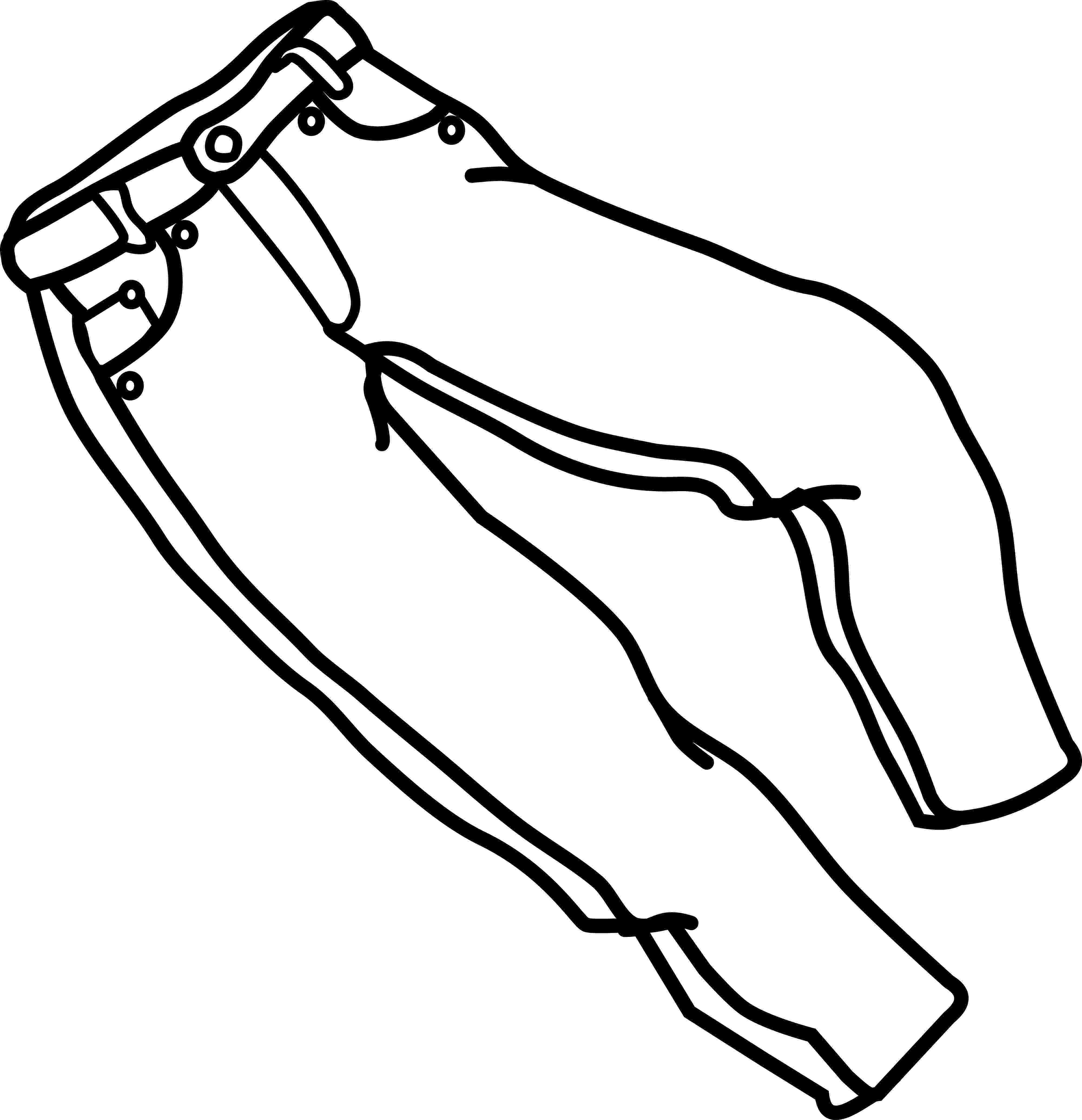 coloring picture of pants denim jeans coloring pages download free denim jeans of picture coloring pants