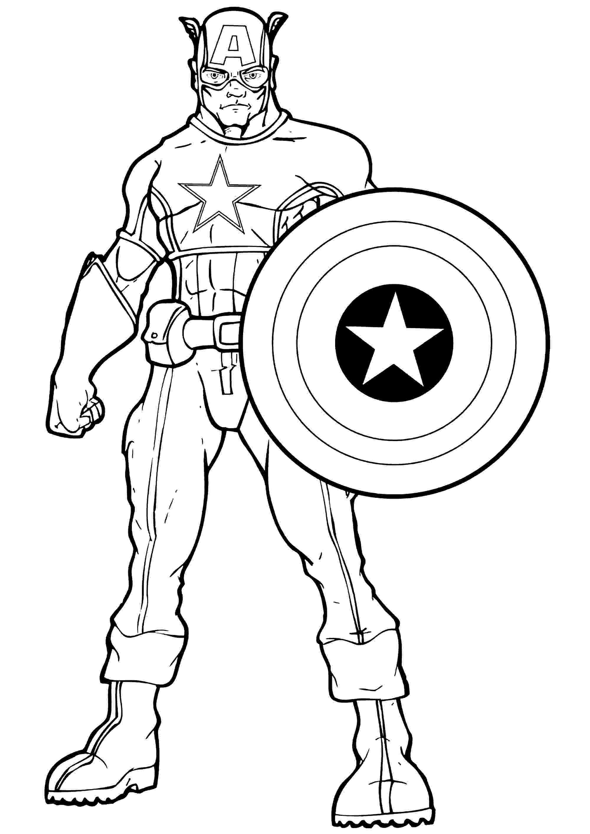 coloring pictures of captain america free printable captain america coloring pages for kids of pictures captain coloring america