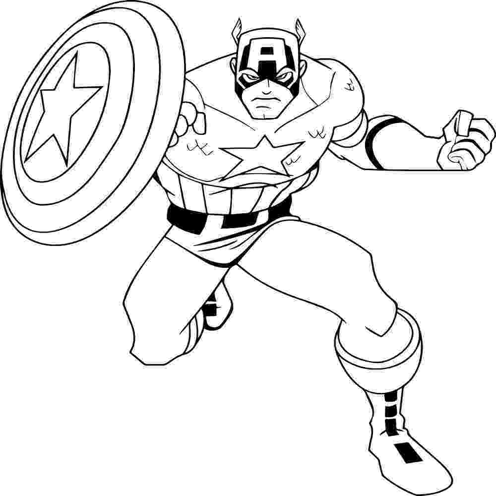 coloring pictures of captain america super heros coloring pages momjunction pictures america of captain coloring