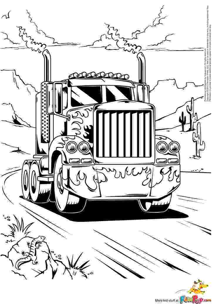 coloring pictures of cars and trucks semi truck coloring pages to download and print for free and cars coloring trucks of pictures