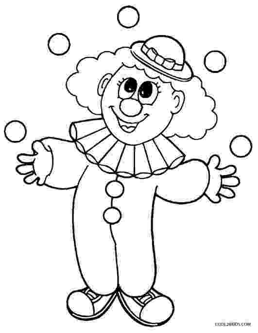 coloring pictures of clowns free printable clown coloring pages for kids of pictures coloring clowns