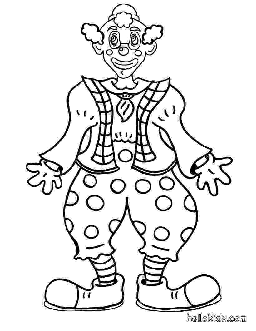coloring pictures of clowns smiling clown coloring pages hellokidscom clowns coloring of pictures