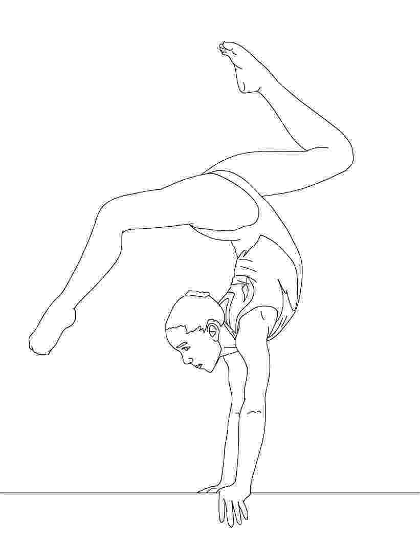 coloring pictures of gymnastics free printable gymnastics coloring pages for kids gymnastics pictures of coloring 1 1