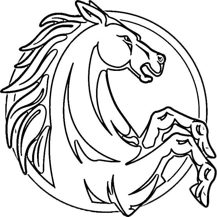 coloring pictures of horses heads horse head coloring page getcoloringpagescom heads pictures horses of coloring