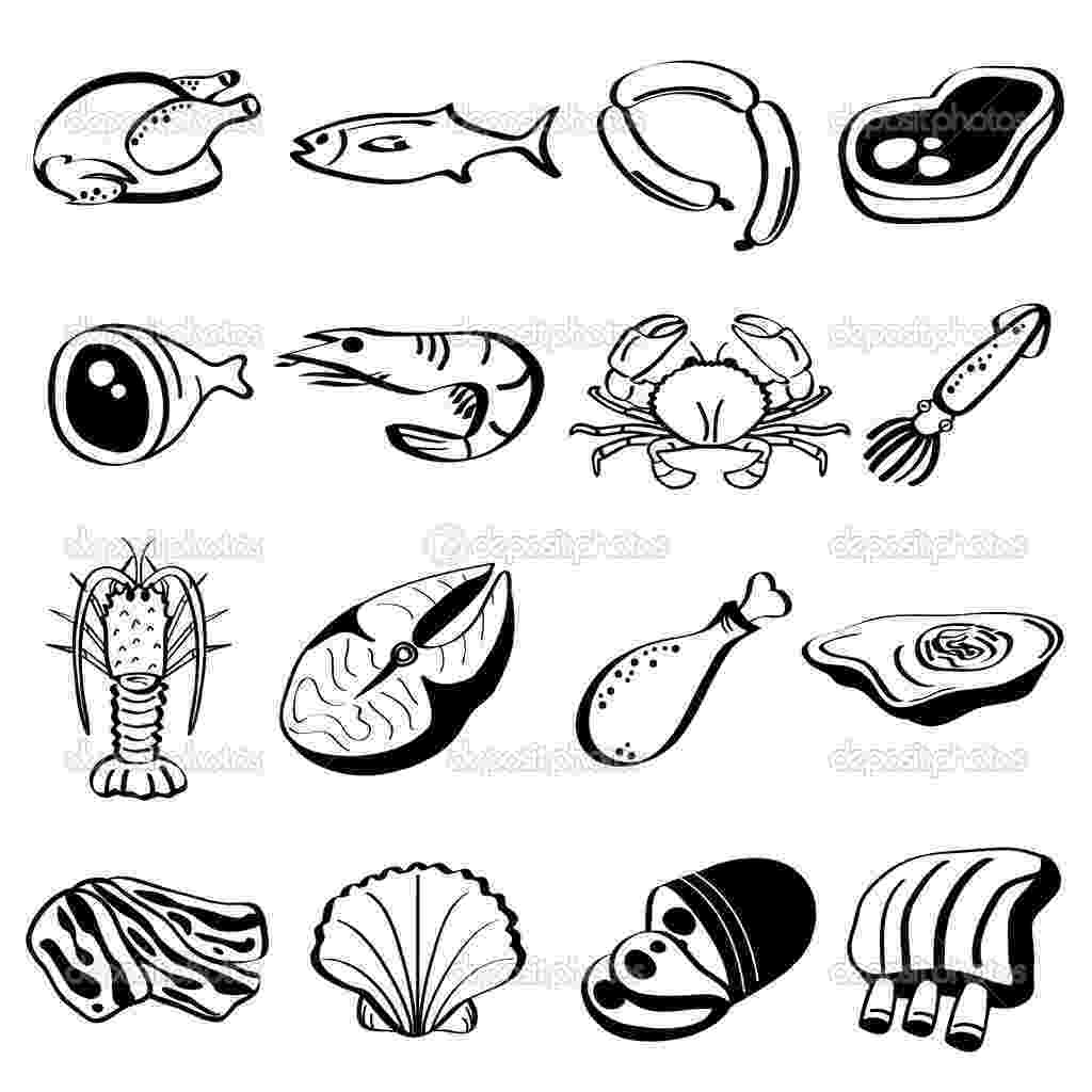 coloring pictures of meat 17 food group icons images protein food group cartoon of meat coloring pictures