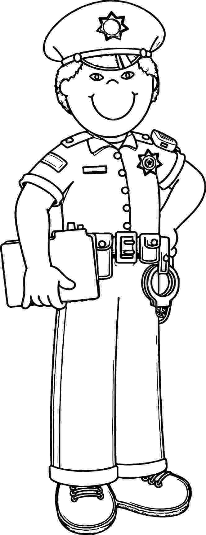 coloring police officer police officers drawing at getdrawingscom free for officer coloring police