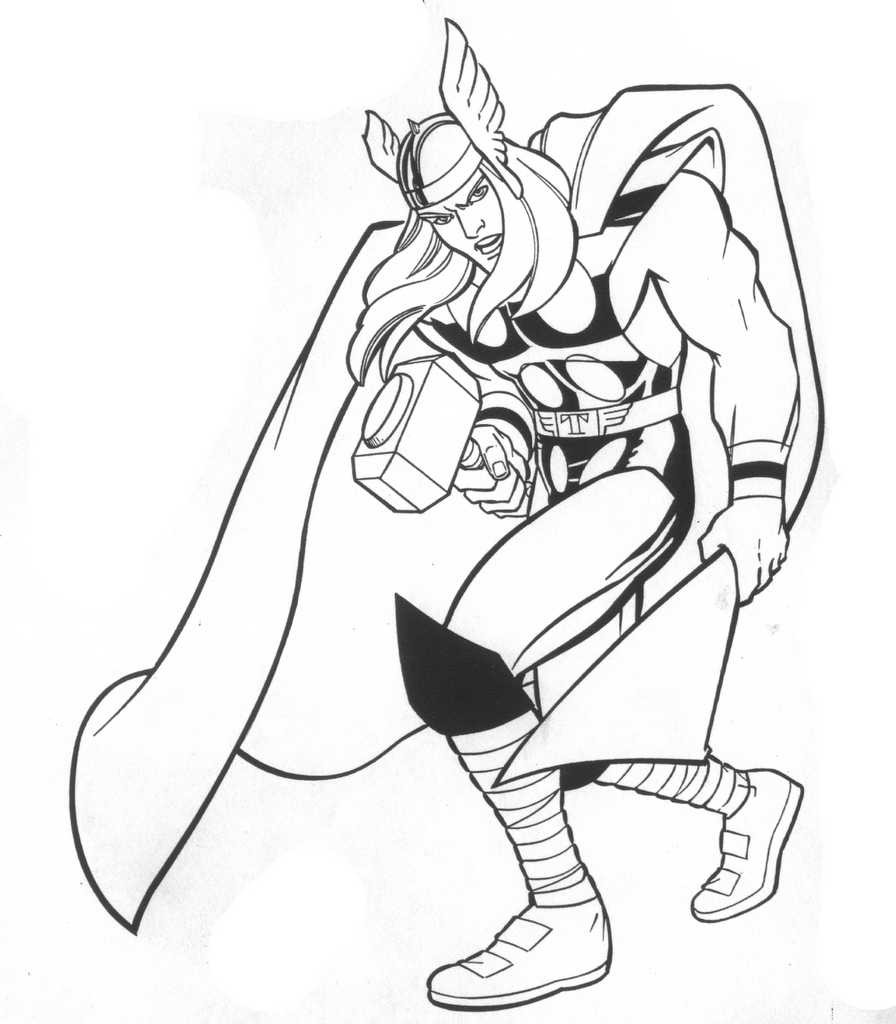 coloring thor free printable thor coloring pages for kids coloring thor