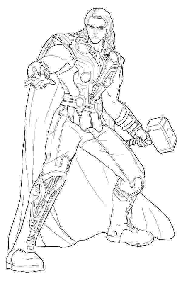coloring thor printable thor coloring pages for kids 360coloringpages coloring thor