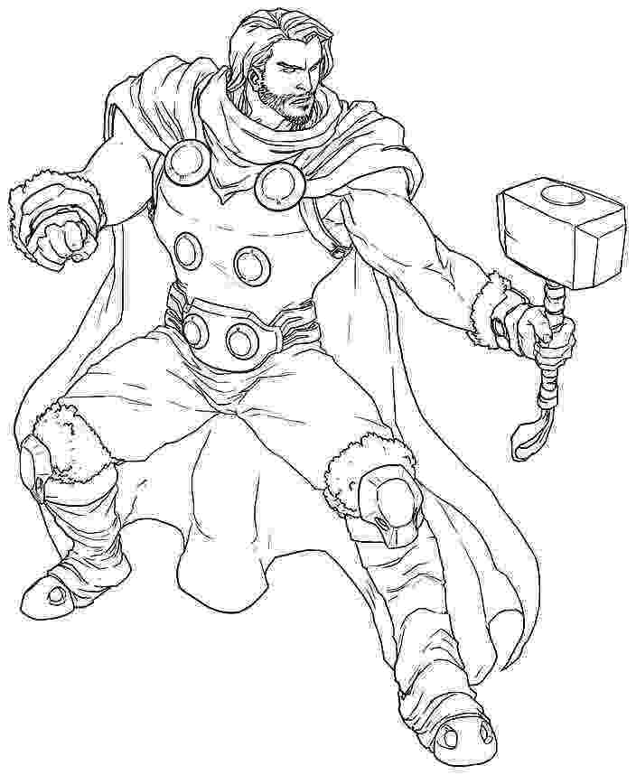 coloring thor thor coloring pages to download and print for free coloring thor 1 2