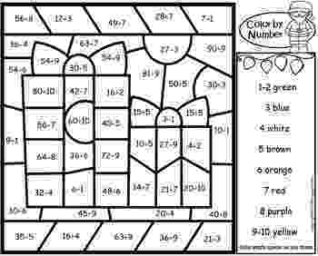 colour by number christmas multiplication christmas addition subtraction worksheet squarehead number colour christmas by multiplication