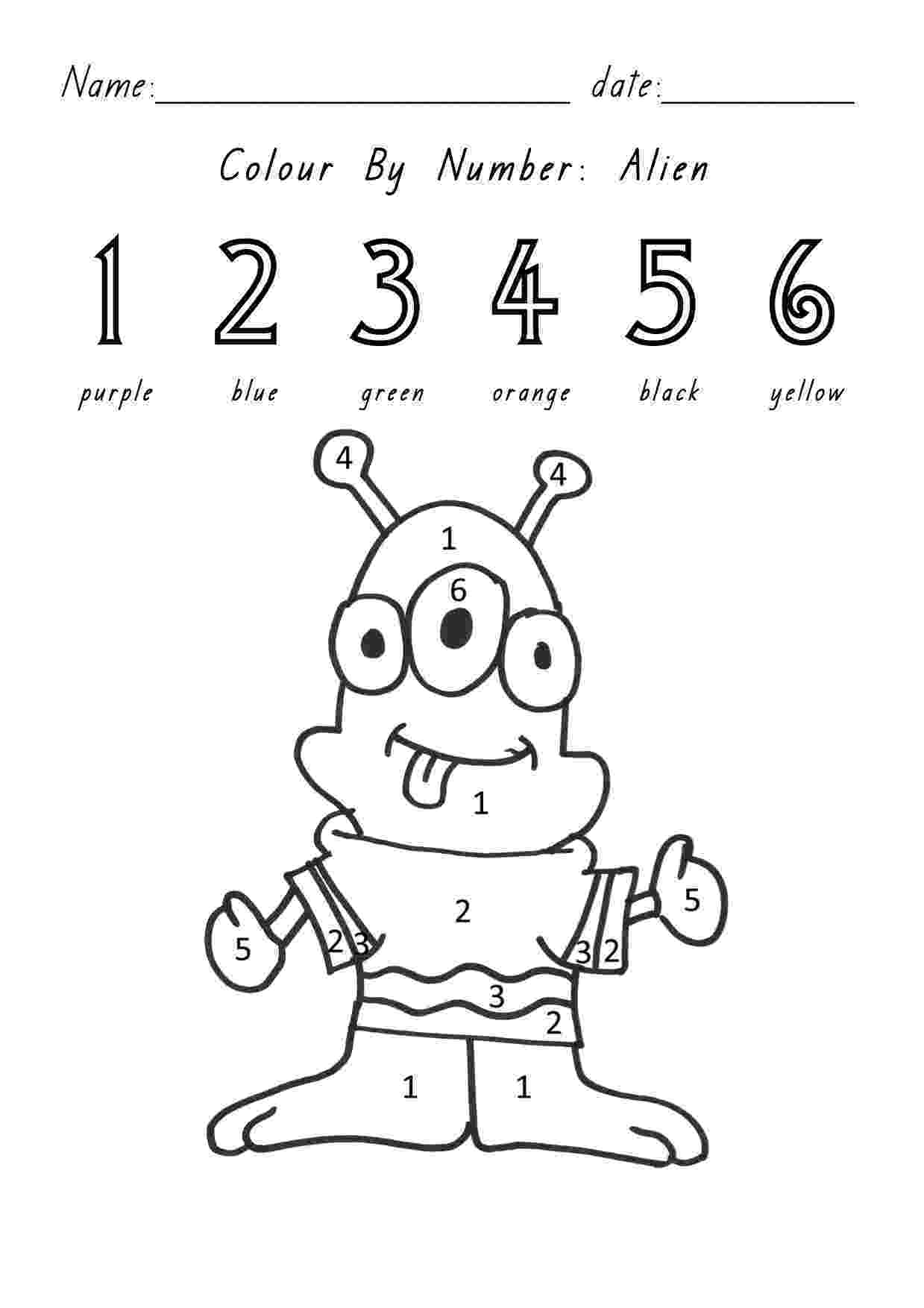 colour by number minibeasts early childhood art and colors worksheets minibeasts colour by number