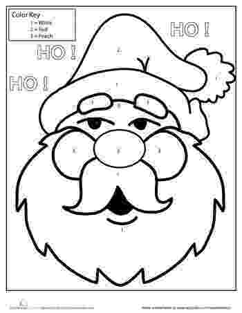 colour by number santa christmas color by number free printable coloring page santa colour number by