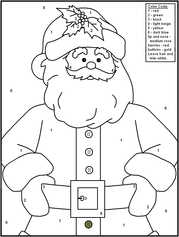 colour by number santa free christmas printables for kids 123 kids fun apps by colour santa number