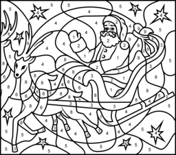 colour by number santa santa color by number christmas coloring pages by colour number santa