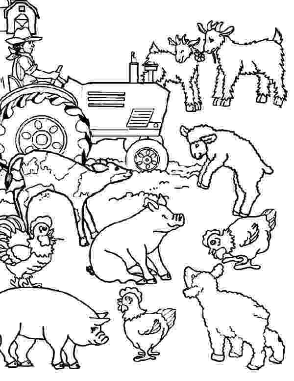 colouring farm animals coloring pages cool2bkids animals farm colouring