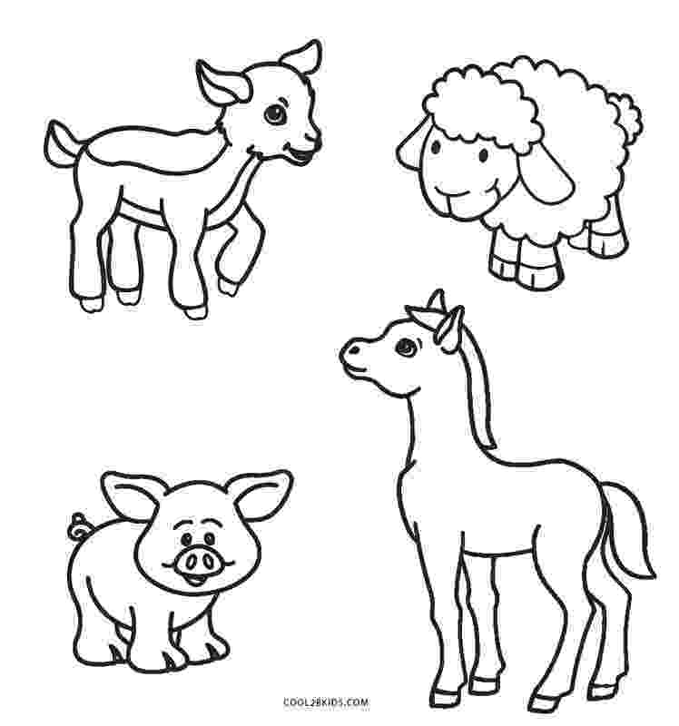 colouring farm animals craftsactvities and worksheets for preschooltoddler and farm colouring animals