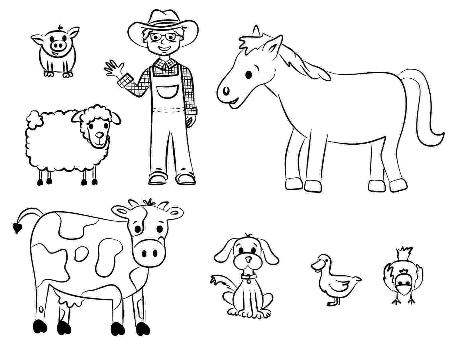 colouring farm animals diy farm crafts and activities with 33 farm coloring animals farm colouring