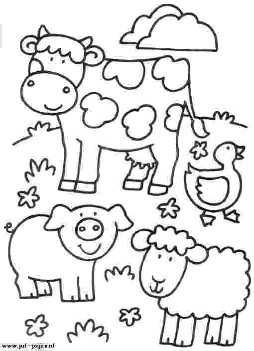 colouring farm animals free printable farm animal coloring pages for kids colouring animals farm