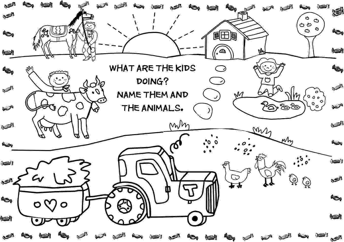 colouring farm animals stock photo farm animal coloring pages drawings farm colouring animals