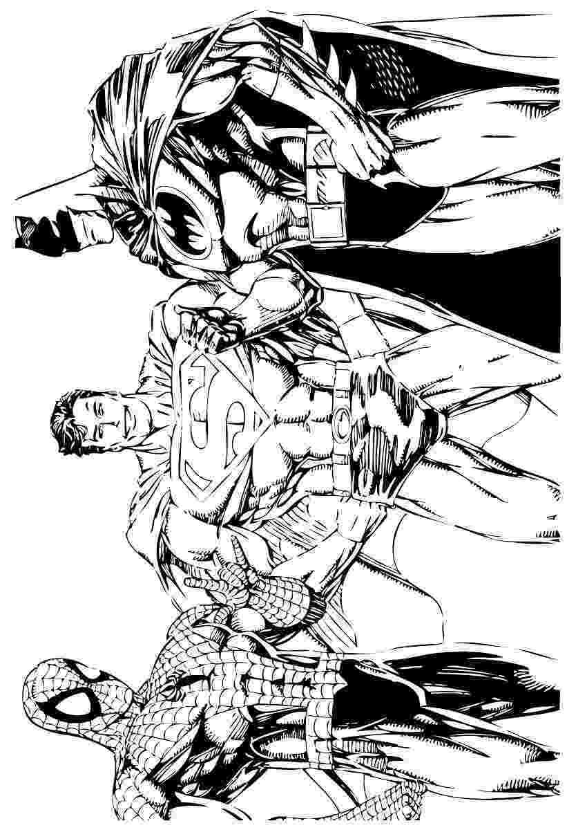 colouring pages batman spiderman batman spiderman and superman coloring page coloring batman colouring pages spiderman