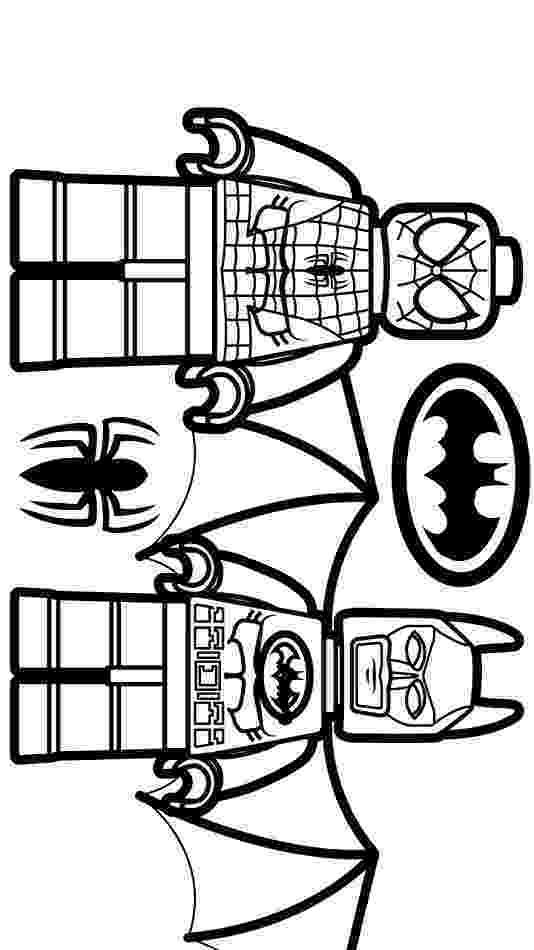 colouring pages batman spiderman lego spiderman and lego batman coloring page free colouring pages spiderman batman