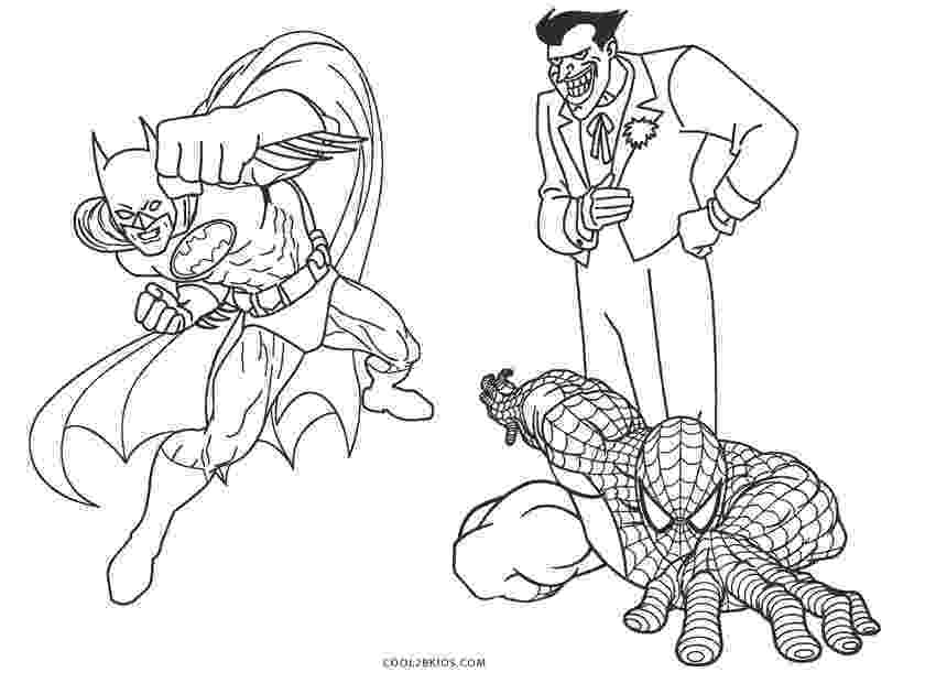 colouring pages batman spiderman pictures of batman coloring for kids super hero coloring colouring batman pages spiderman
