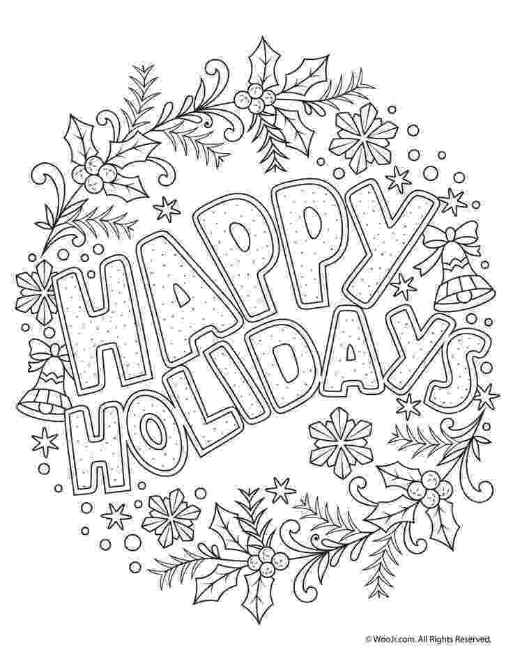 colouring pages christmas free happy holidays adult coloring freebie holidays pages free colouring christmas