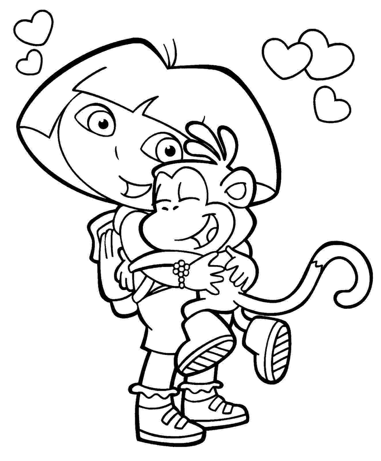 colouring pages dora free printable dora the explorer coloring pages for kids colouring dora pages