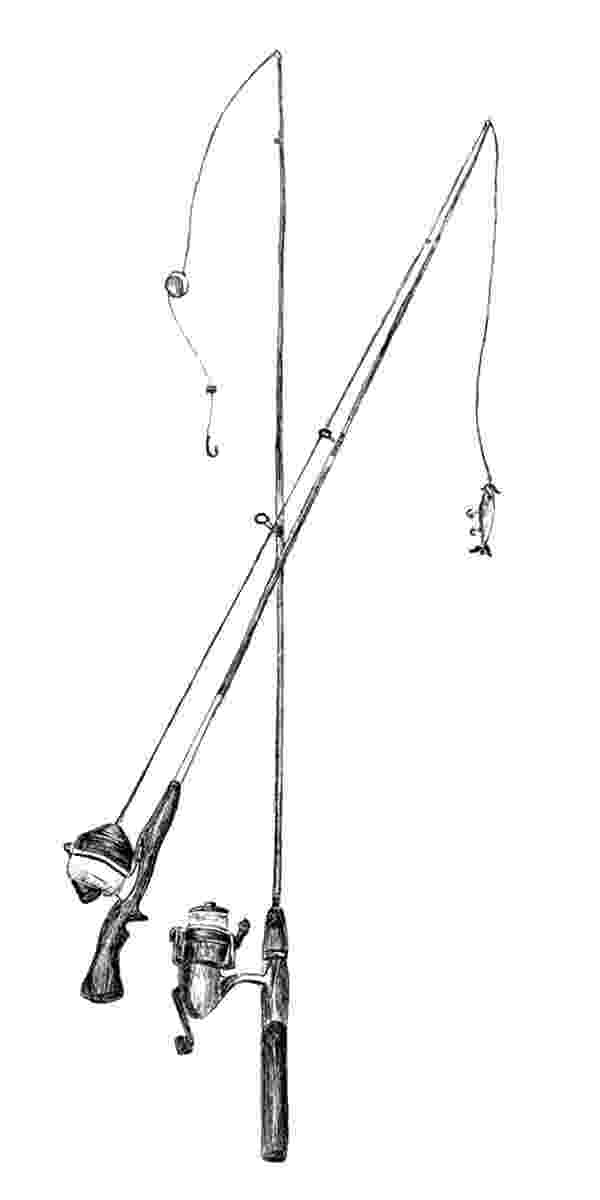 colouring pages fishing rod two fishing pole coloring pages download print online fishing pages rod colouring