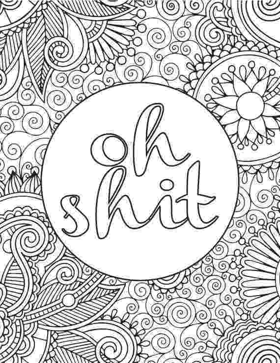 colouring pages for adults pinterest printable adult coloring book page oh shit adults colouring pages pinterest for