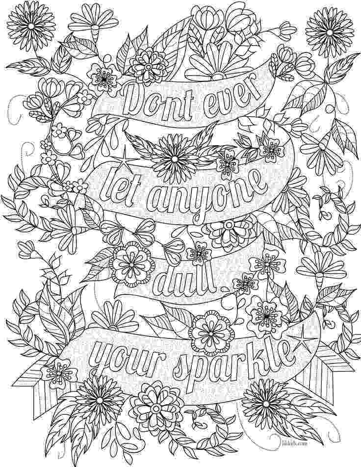 colouring pages for adults with quotes free inspirational quote adult coloring book image from colouring for quotes with adults pages