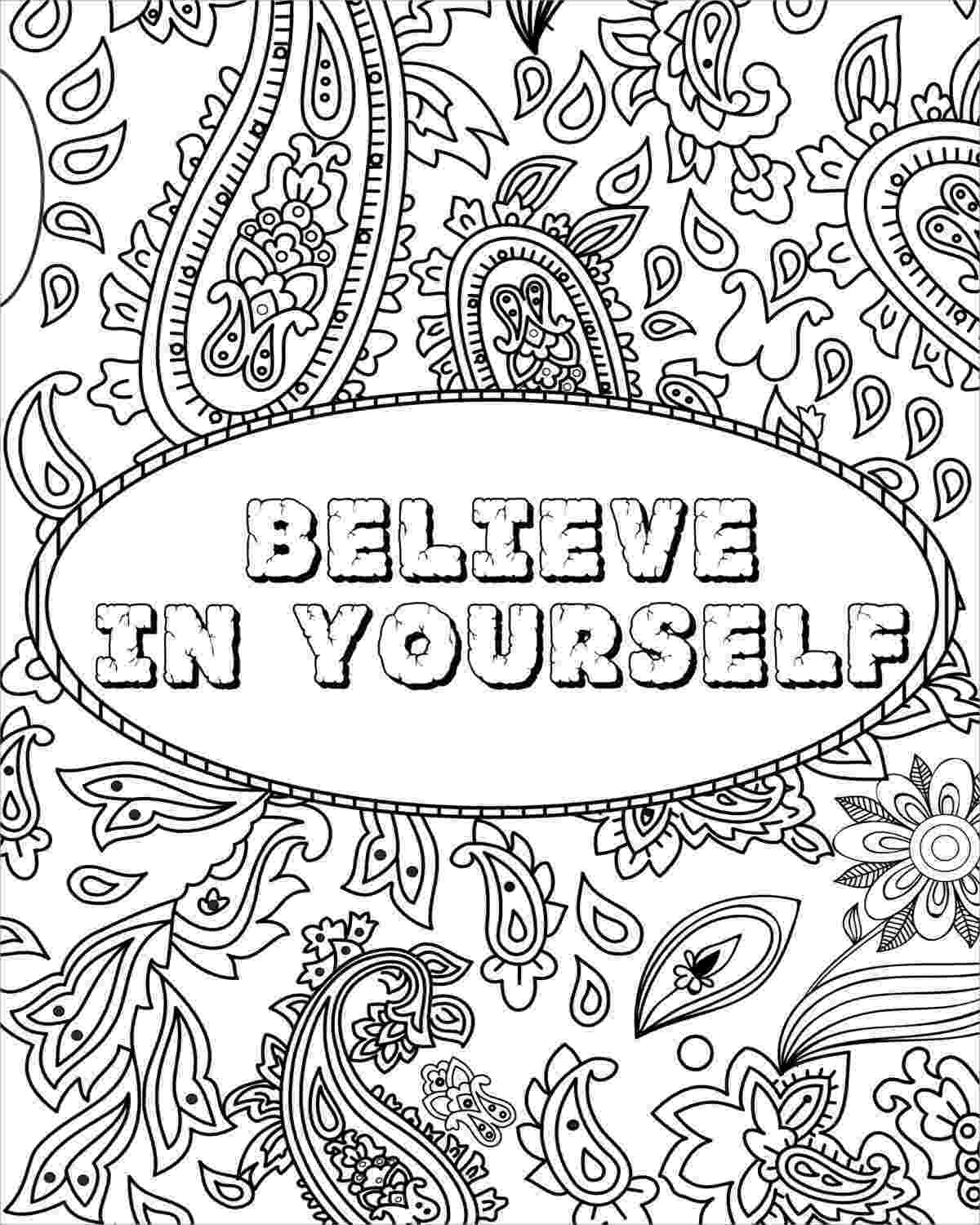 colouring pages for adults with quotes free printable quote coloring pages for grown ups quotes with colouring pages for adults