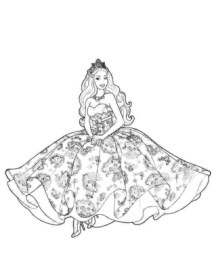 colouring pages for barbie princess printable barbie princess coloring pages for kids cool2bkids barbie for princess pages colouring