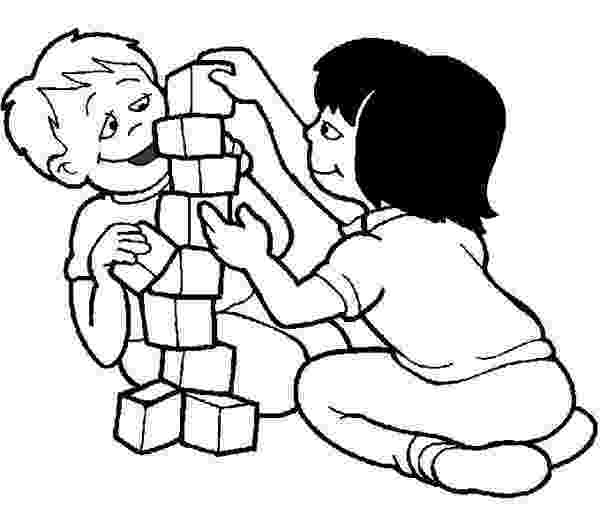 colouring pages for play school kids playing abc blocks toys coloring page for play pages colouring school