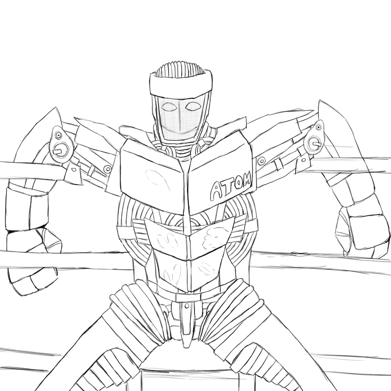 colouring pages for real steel quotreal steel noisy boy and other learn to coloring picture steel for real pages colouring