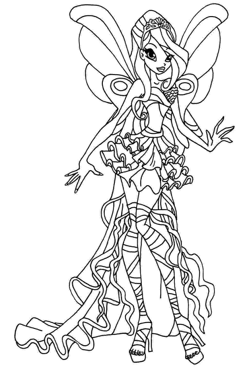 colouring pages for winx free printable winx coloring pages for kids cool2bkids colouring for winx pages