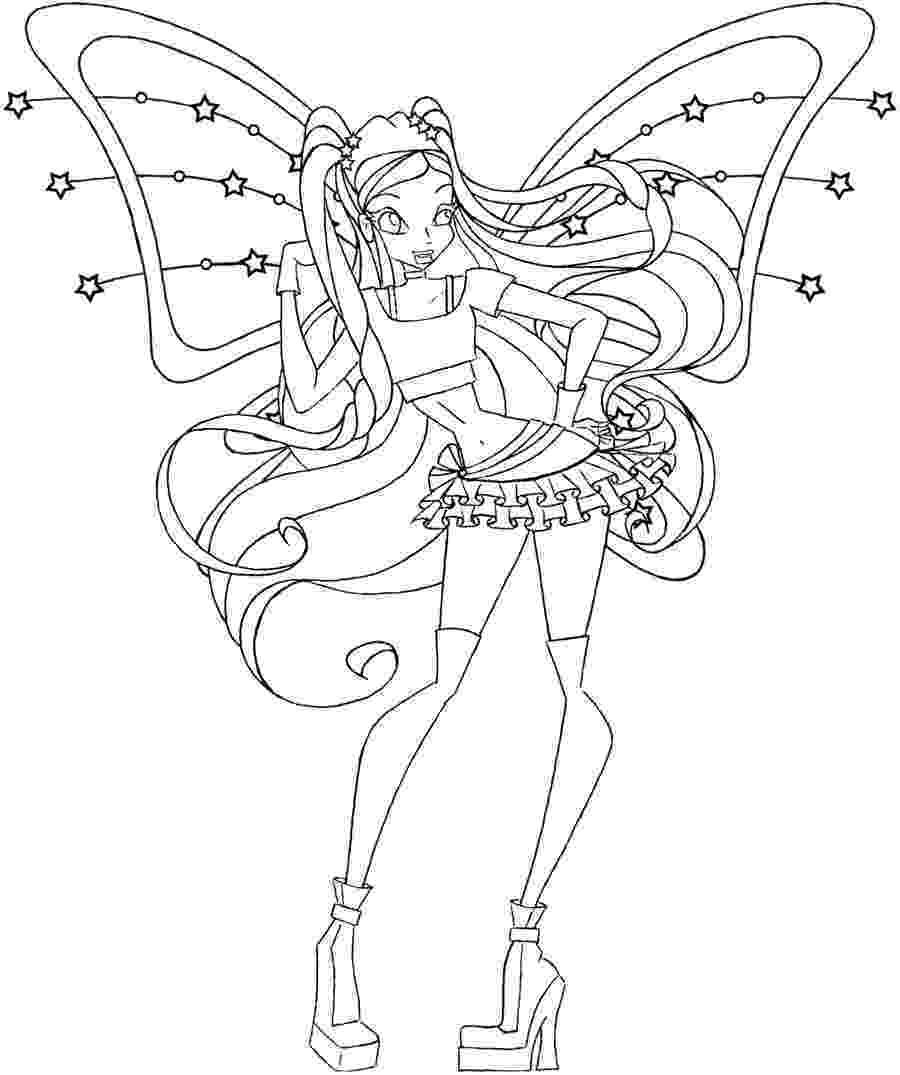 colouring pages for winx winx club drawings winx for pages colouring