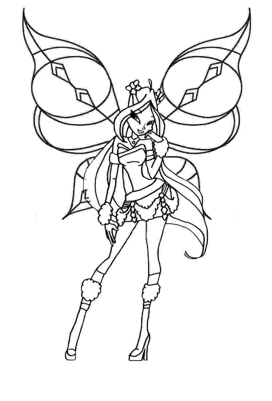 colouring pages for winx winx club flora drawing at getdrawingscom free for pages colouring for winx