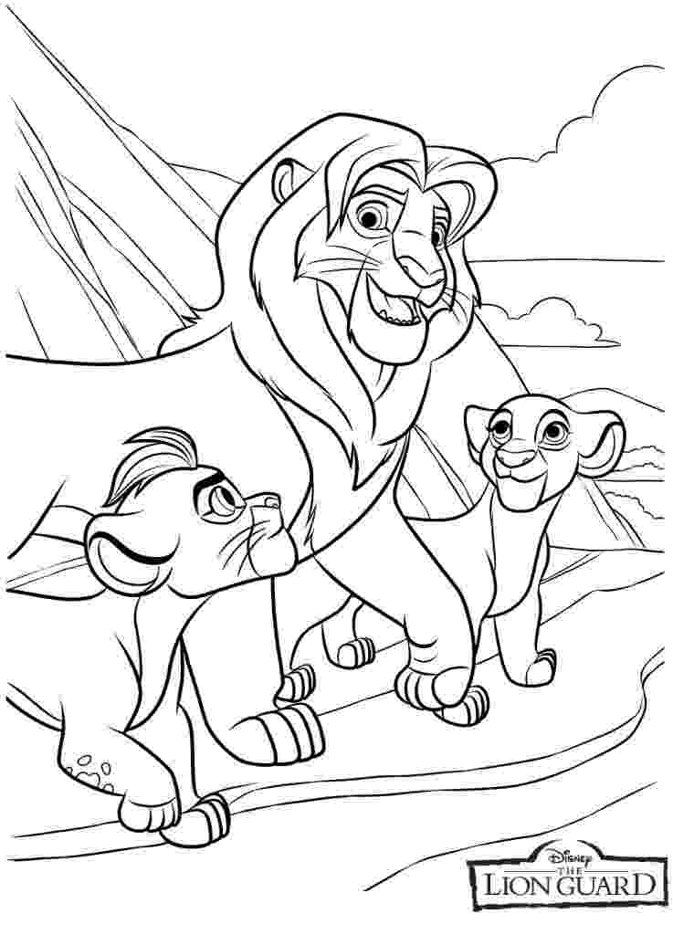 colouring pages lion guard the lion guard coloring pages disney coloring book lion colouring guard pages