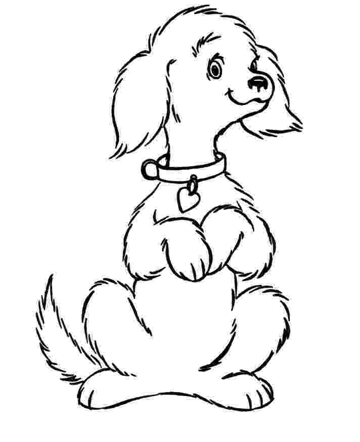 colouring pages of a dog coloring page outline of cartoon dog stock illustration a dog pages of colouring