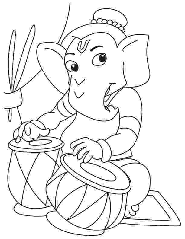 colouring pages of lord ganesha ganesh drawing for kids at getdrawingscom free for colouring of ganesha lord pages
