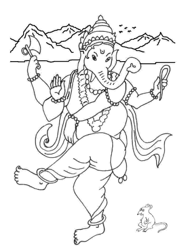 colouring pages of lord ganesha ganesh drawing for kids at getdrawingscom free for ganesha colouring lord of pages