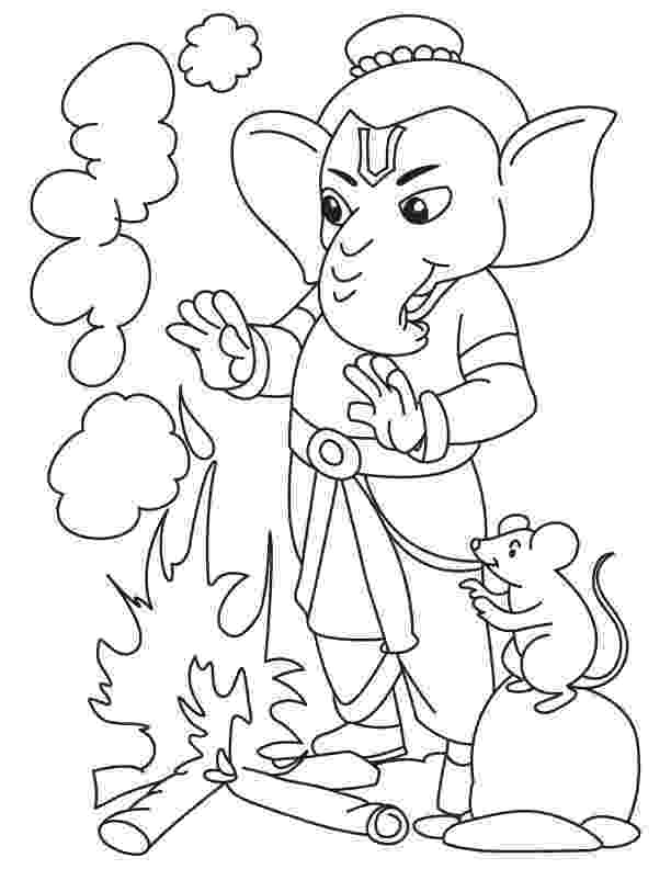 colouring pages of lord ganesha ganesh drawing for kids at getdrawingscom free for lord of colouring pages ganesha